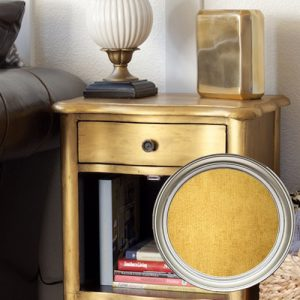 Metallic Gold Chalk Furniture Paint