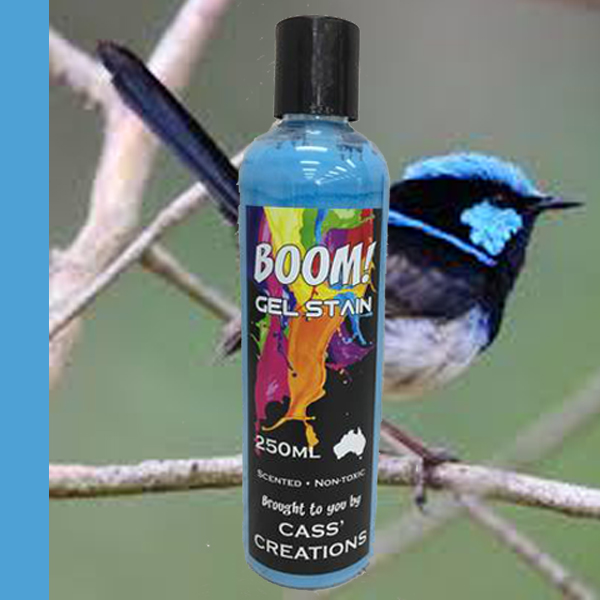 Boom Gel Stain Fairy Wren Blue