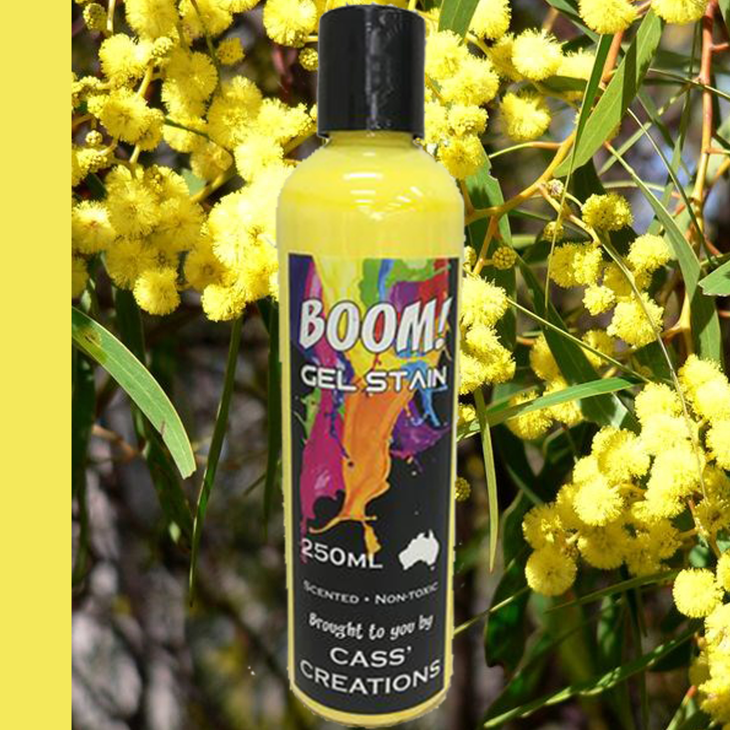 Boom Gel Stain Golden Wattle Yellow