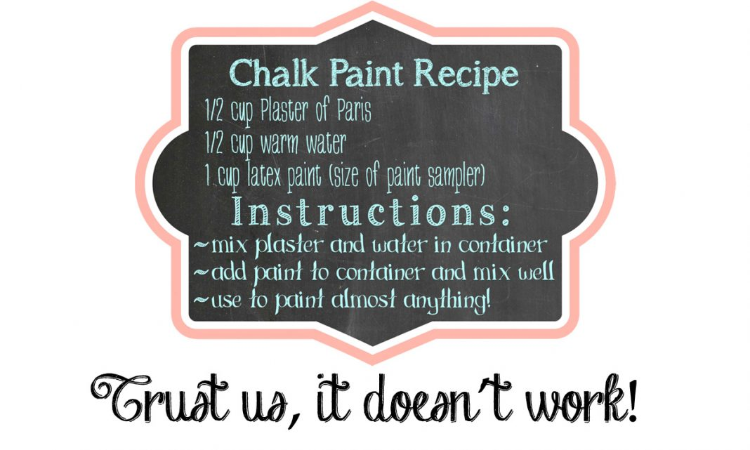 DIY Homemade Chalk Paint Recipe Blog