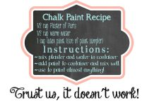 DIY Homemade Chalk Paint Recipe Blog