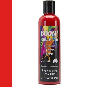 Boom Gel Stain Flame Tree Red