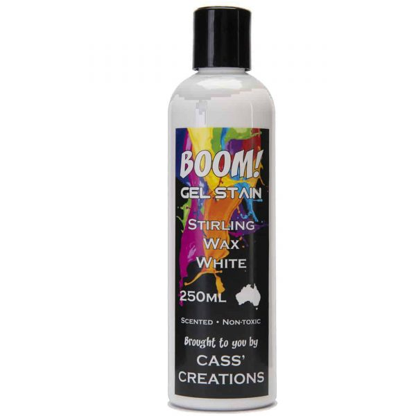 Boom Gel Stain Sterling Wax White
